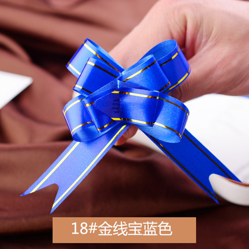 1000pcs 1.8*36CM Small Gift Packing Pull Bows Wedding Party Decoration Pullbows wholesale flower bows Ribbons Gift Wrapping