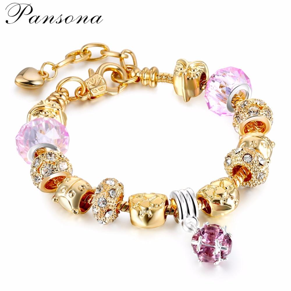2018 European Fashion 925 Making Silver Charms Bracelet With Murano Glass Beads Bracelets for Women Original