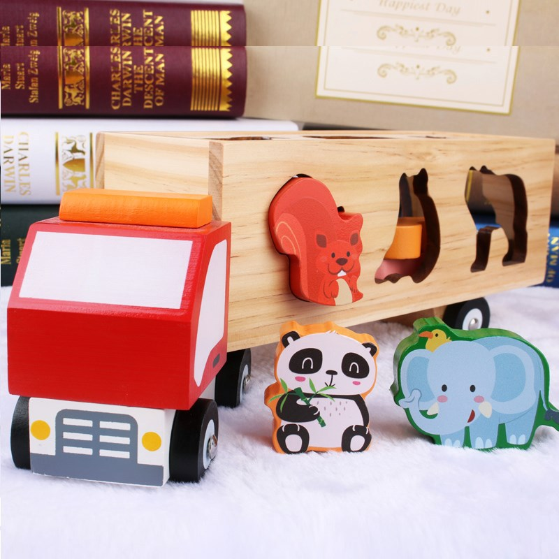 Jouet en bois pour enfants Montessori jouets éducatifs Pop bébé appariement géométrique jouets blocs jouet de Bus éducatif de la petite enfance
