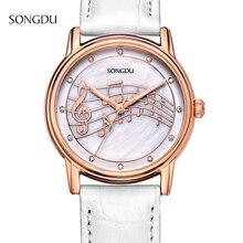 Женщина часы 2016 бренд роскошные кожаные кварцевые часы дамы золотые часы reloj mujer marcas famosas relogios femininos дамы horloges