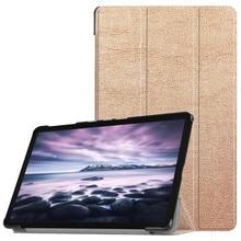 Protective Case For Samsung Galaxy Tab A2 Tri-fold Solid Lea