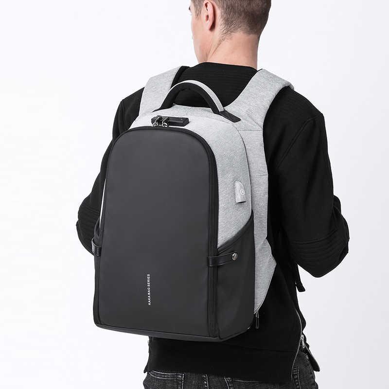 """KAKA Для мужчин Анти-кражи рюкзак 15,6 """"рюкзаки для рюкзак для подростков школьный мужской Для женщин Mochila большой Ёмкость latptop сумка"""