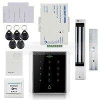 DIYSECUR 125 KHz Leitor RFID Teclado de Senha + 280 kg Fechadura Magnética + Controle de Acesso Campainha Sistema de Segurança Kit