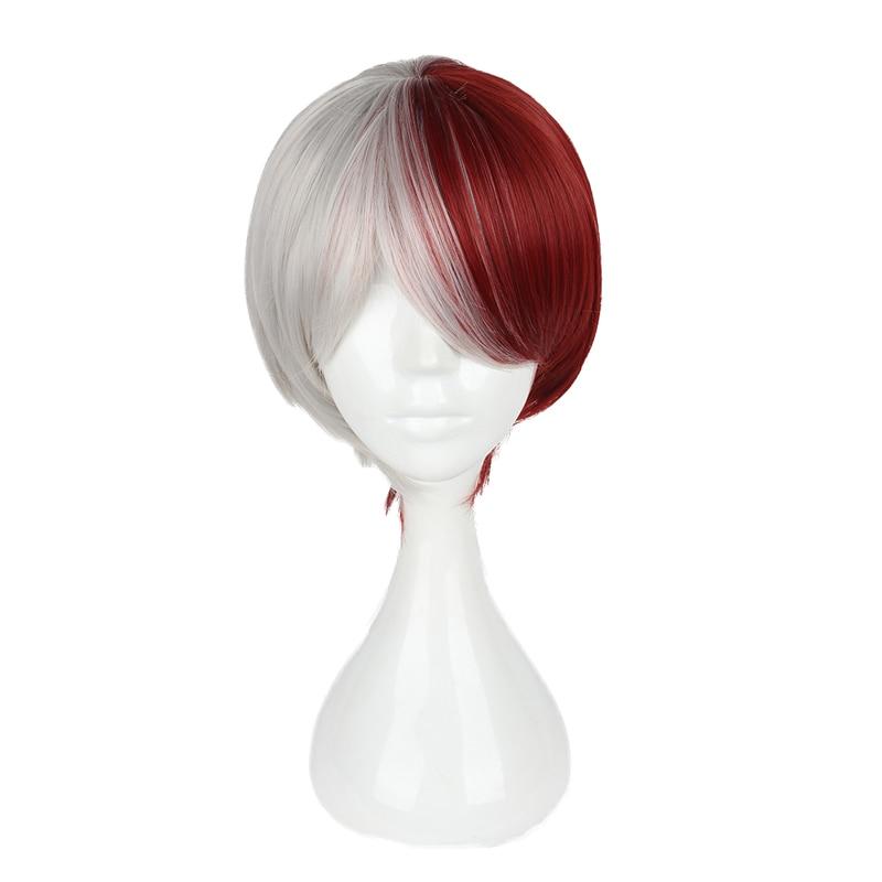 Anime Boku no Hero Academia TODOROKI SHOTO Wig Cosplay Costume My Hero Academia Short Hair Wigs