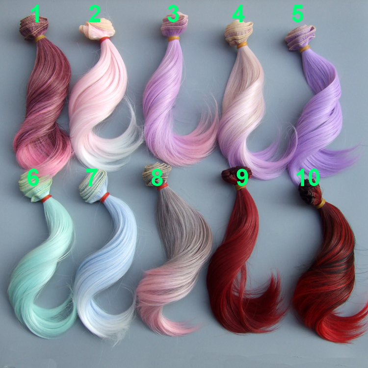 15cm doll hair for 1/3 1/4 1/6 BJD diy doll natural wave doll hair 25cm 100cm doll wigs hair refires bjd hair black gold brown green straight wig thick hair for 1 3 1 4 bjd diy