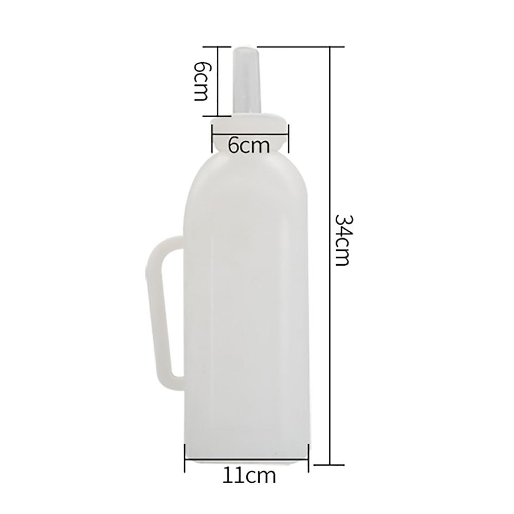 1PCS 2L liters calf cow milking bottle plastic nipple milker device feeder nursery bucket feeding animals equipment supplier