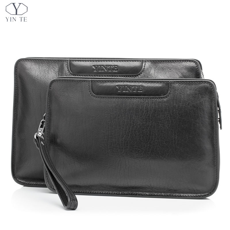 YINTE 2016 Fashion Men's Clutch Wallets Leather Men Big Bags High Quality Genuine Leather Men Business Clutch Bag Soft 8359-1 high quality leather men s clutch wallets wholesale leather clutch bag zipper coin bag men big wallet wholesale drop shipping