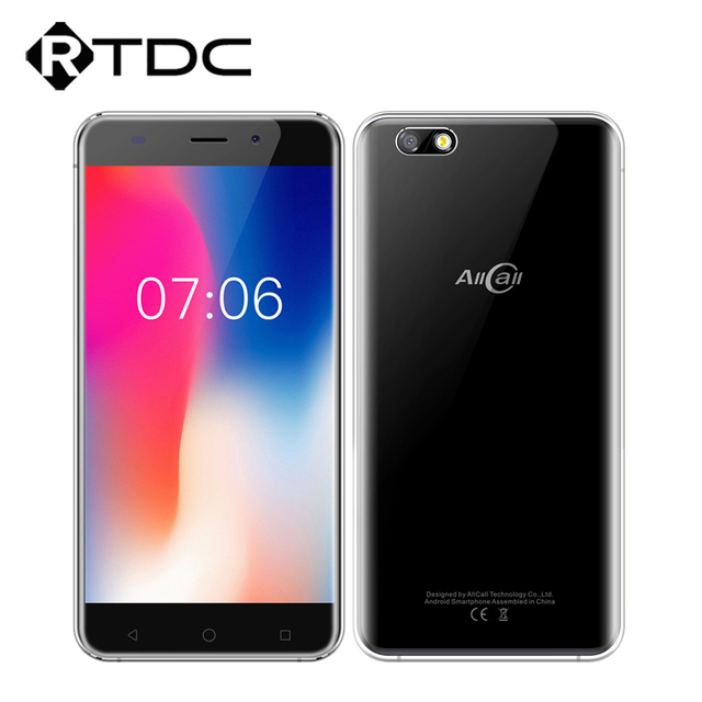 Original AllCall Madrid 3G 5.5Inch MT6580A Quad core 1GB RAM 8GB ROM 8MP+2MP Cameras Android 7.0 2600mAh Mobile Phone