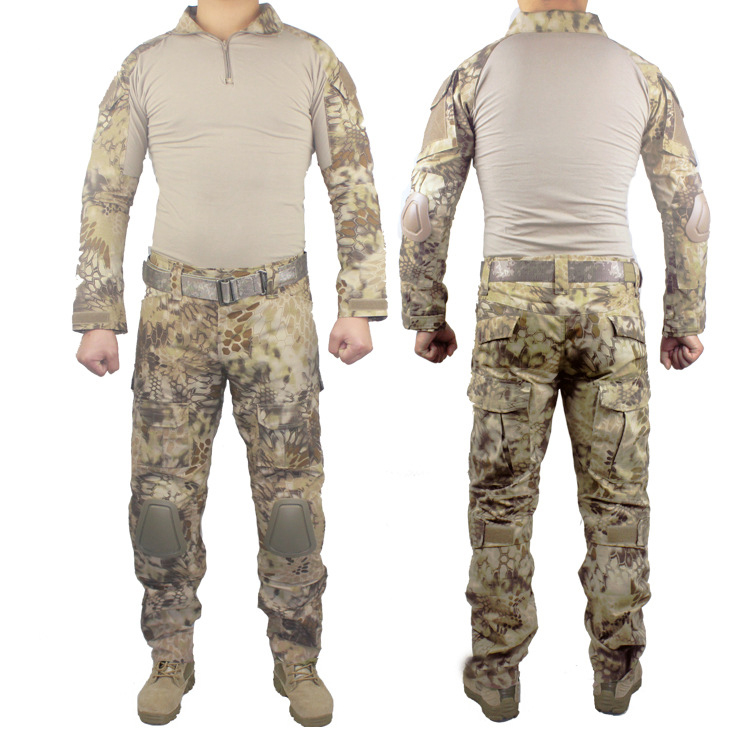 Military Tactical Army Uniform With Knee Pads Shirt+Pants Suit Clothing Camouflage Sets Outdoor Hunting Combat Camping Uniform tactical g3 uniform hunting combat shirt cargo with pants knee pads camouflage bdu army military men clothing set acu fg black