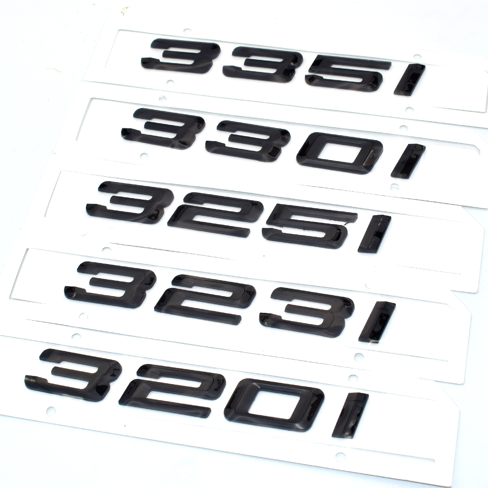 BLACK 330i REAR TRUNK LETTERS BADGE EMBLEM FOR BMW 3-SERIES E36 E46 E90 F30