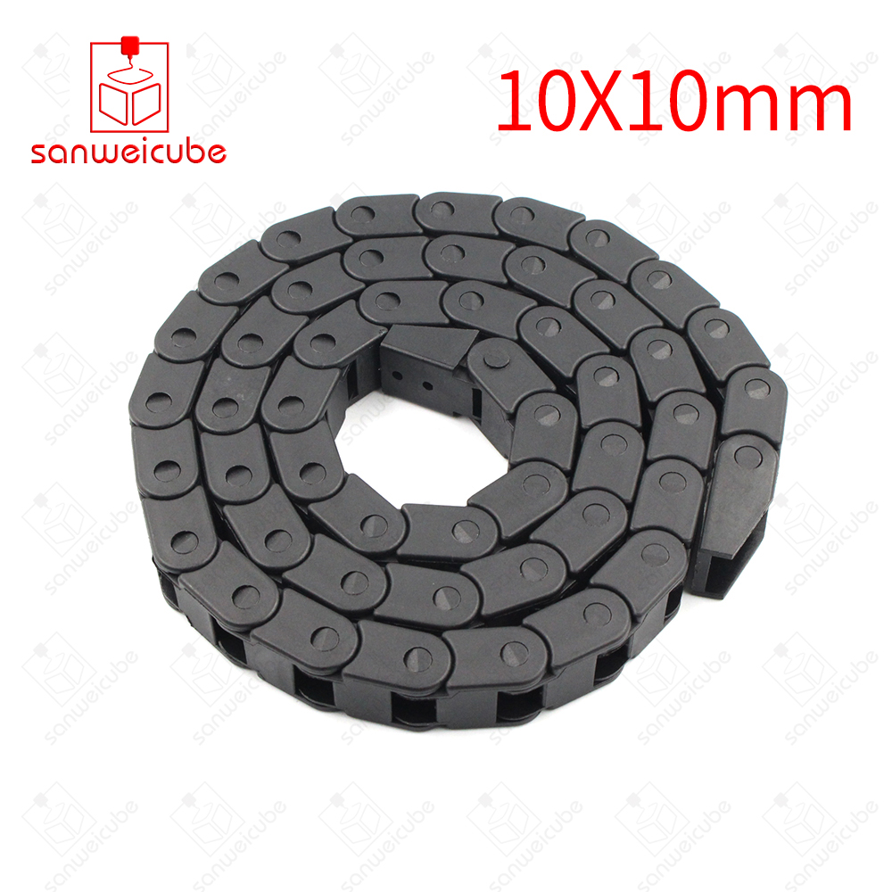 10*10mm CNC Router Machine Tools Transmission Chains 10 x 10mm L1000mm Wire Carrier with end connectors for Cable Drag Chain free shipping best price 10 x 15mm l550mm cable drag chain wire carrier with end connectors for cnc router machine tools