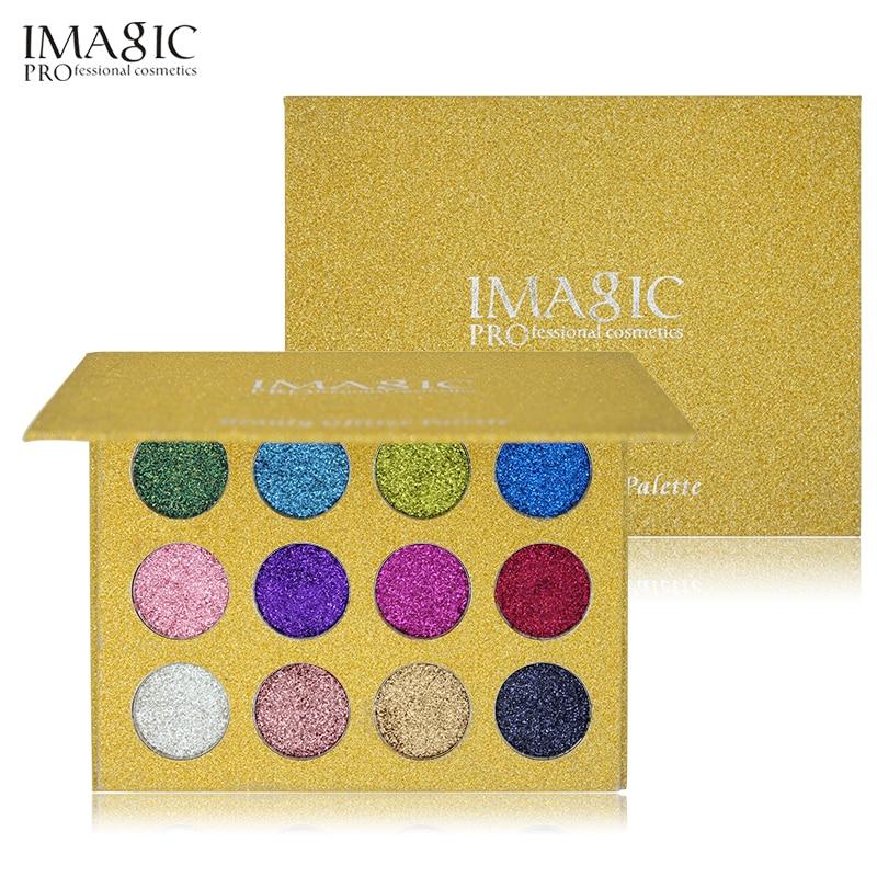 IMAGIC12 Färg Mycket pigmenterad Diamond Glitter Eye Shadow Palette - Smink - Foto 1
