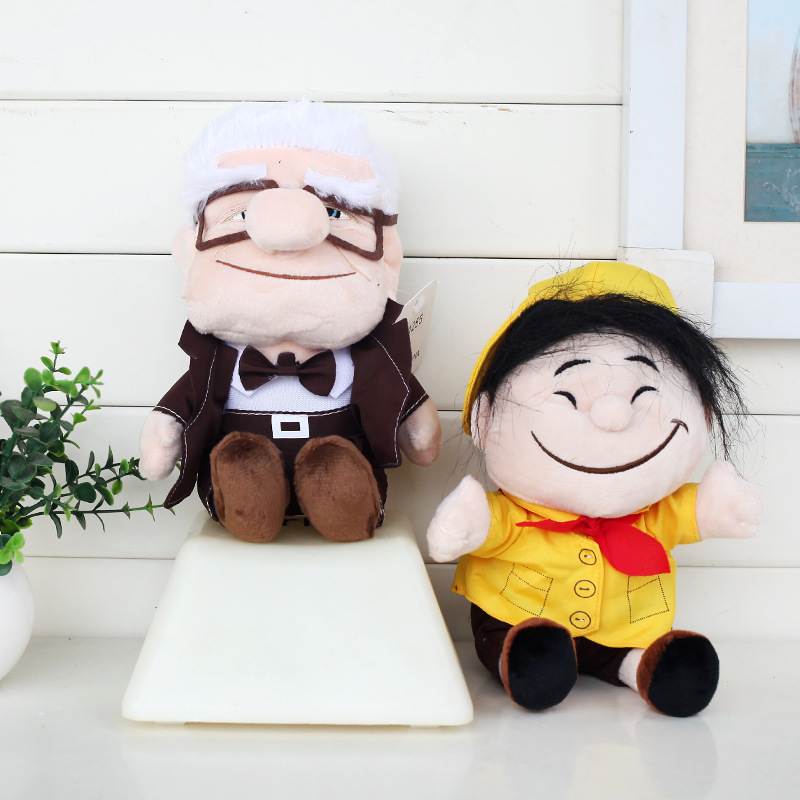 2pcs/lot 20cm Pixar Movie UP Russell & Carl Fredrickse Plush Toys Doll Soft Stuffed Toys for Kids Children Christmas Gifts plush ocean creatures plush penguin doll cute stuffed sea simulative toys for soft baby kids birthdays gifts 32cm