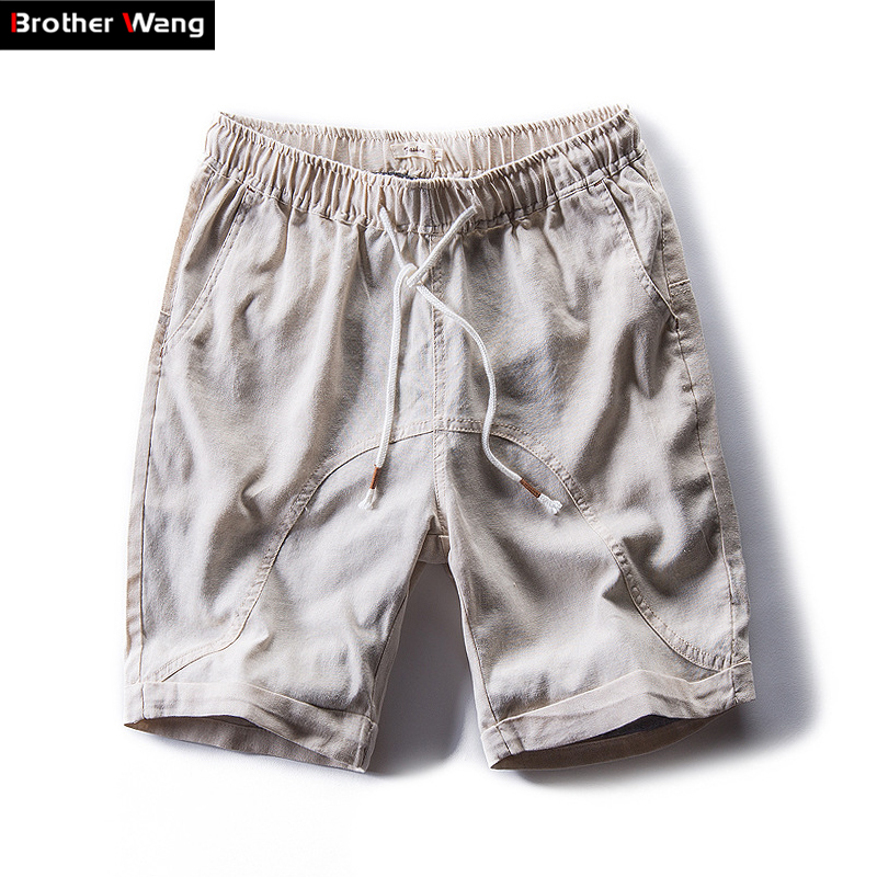 Men's Shorts Bermuda Linen Summer Fashion Casual Brand New Male Slim Chinese-Style