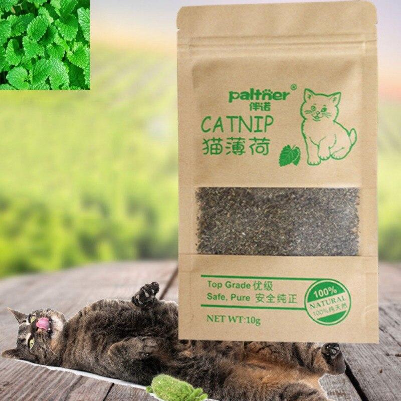10g 100% Natural Premium Organic Catnip Cattle Grass Menthol Flavor Funny Cat Toys Newest