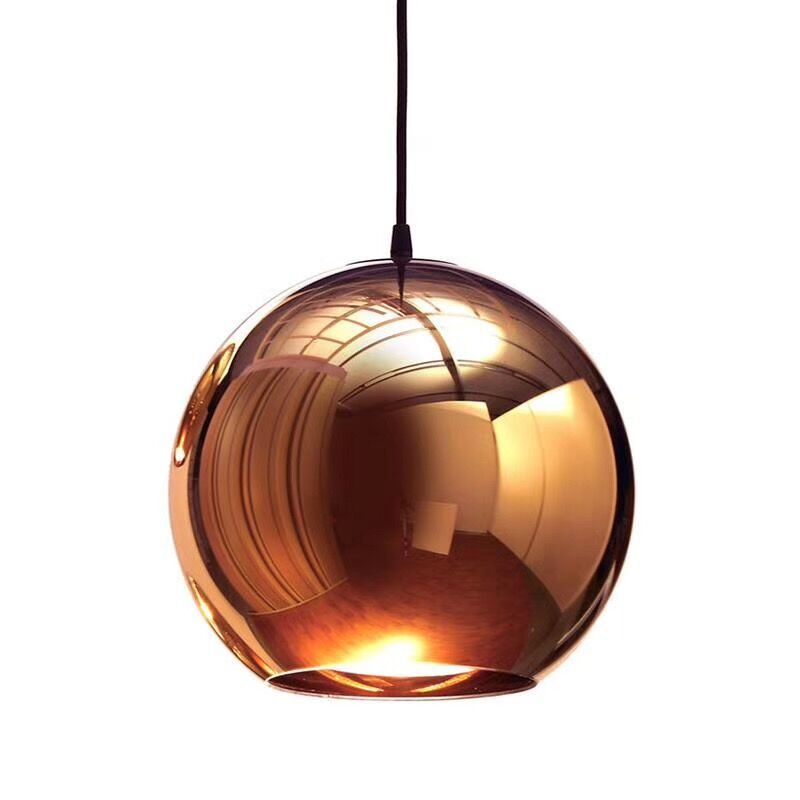 Modern pendant Light Copper/Sliver/Gold/red glass ball lamp for shop decoration
