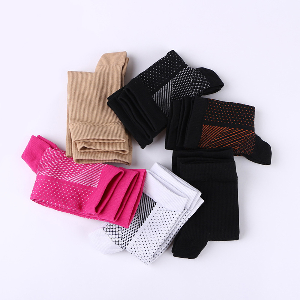3Pcs/Lot Unisex Ankle Protection Comfortable Anti Fatigue Copper Fiber Compression Socks Sleeve Elastic Exposed Toe Socks