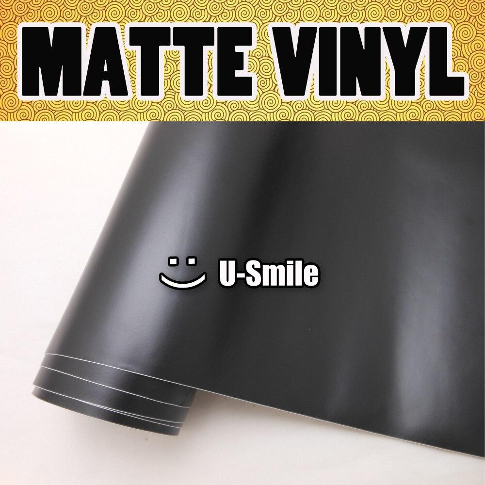 Film de vinyle noir mat mat vinyle noir mat vinyle Wrap noir mat voiture Wrap Air libre Auto moto taille: 1.52 M x 30 M