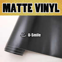 Matte Black Vinyl Matt Black Vinyl Film Black Matte Vinyl Wrap Matte Black Car Wrap Air Free Auto Motorcycle Size:1.52M x 30M