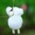 Pom Pom de la piel de oveja Llavero 100% piel de visón auténtico monstruo bolsa de accesorios del encanto del carro de golf bolsa piezas colgante bolsa de regalo F #92
