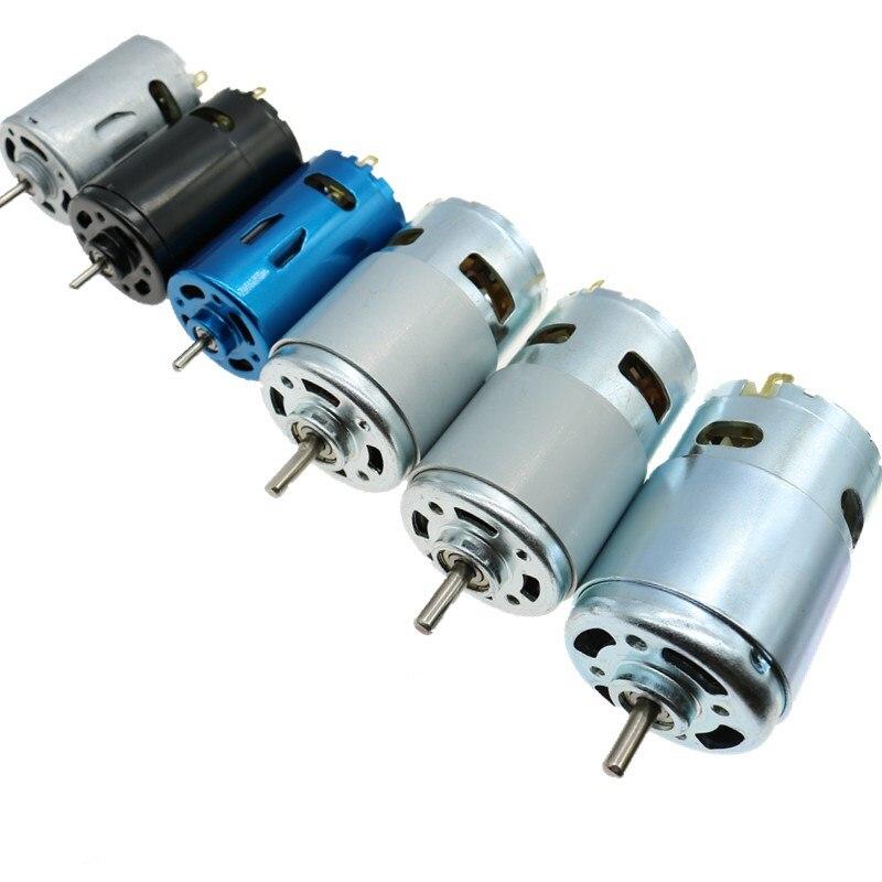 DC Motor 6 V/7.4/12 V/18 V/24 V 3000-15000 RPM Alta velocidade Grande torque DC 390/540/550/555/775/795/895 Potência Do Motor Elétrico ferramenta