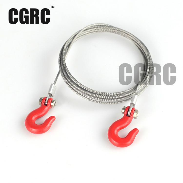 Rc Crawler Accessories Steel Tow Rope With Hook For Tamiya Cc01 Axial Scx10 Rc4wd D90 Tf2 Traxxas Trx-4 Trx4 1/10 Rc Crawler цена