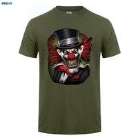 GILDAN T-shirt Design Kurz Zomer Oansatz Herren Crazy Clown Scary Horror Joker Narr Böse Biker T Shirts