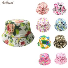 Toddler Baby Kids Boys Girls Floral Pattern Bucket Hats Sun Helmet Cap Baby Care Hat children's beret 2019 NEW(China)