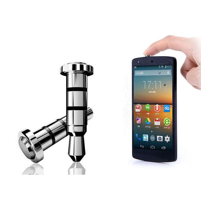 3.5mm Koptelefoon Jack 2 PC Klik Quick iKey Druk Knop Stof Plug voor Android OS APP Snelkoppeling Voor Android 4.0 Of Boven Apparaten