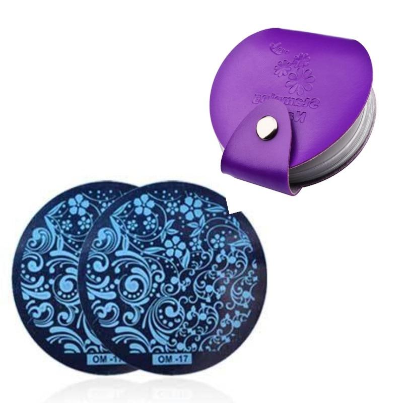 Nuovo Pro Nail Art Stamping Piatti Modelli Stencil Borse per 5,5 cm - Manicure