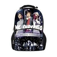 Venda quente mochila para adolescentes uma direção mochila de lona menino mochilas de viagem saco de escola mochila