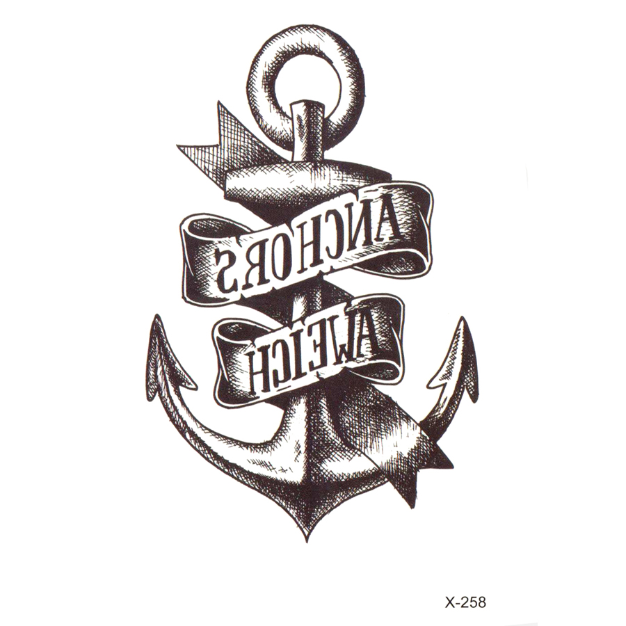 Anchor Henna Tattoo: 100pcs Anchor Waterproof Temporary Tattoo Sticker Tatuajes