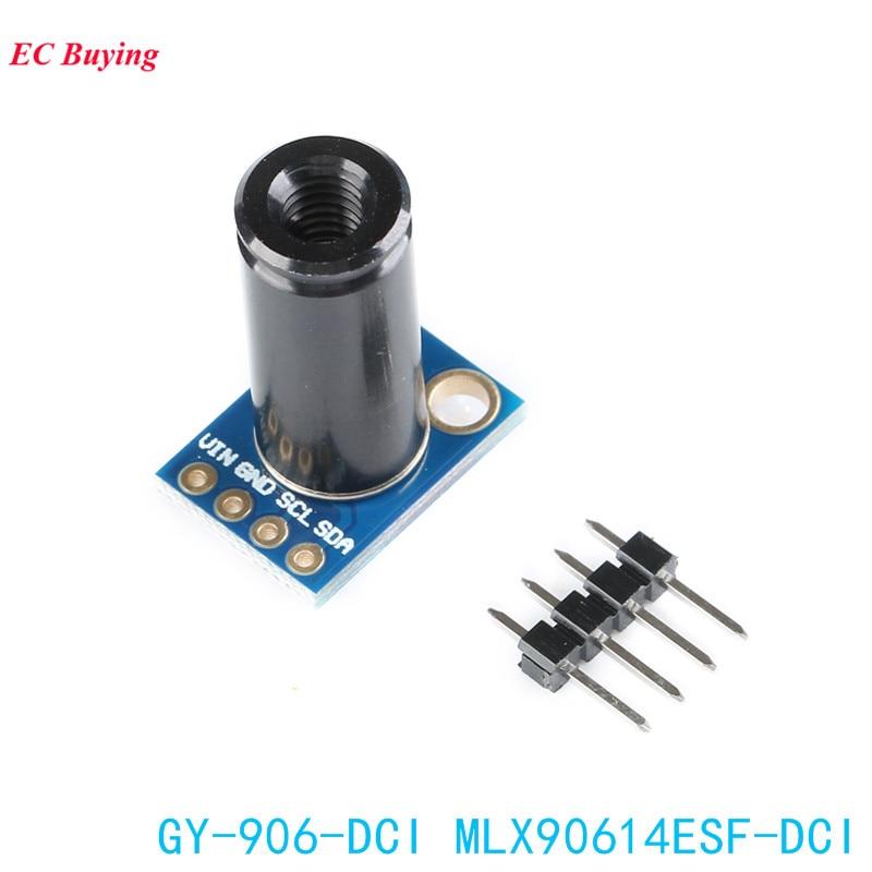 MLX90614ESF-DCI חיישן מודול MLX90614 אינפרא אדום חיישני טמפרטורה GY-906-DCI IIC מחבר ארוך מרחק אלקטרוני DIY PCB