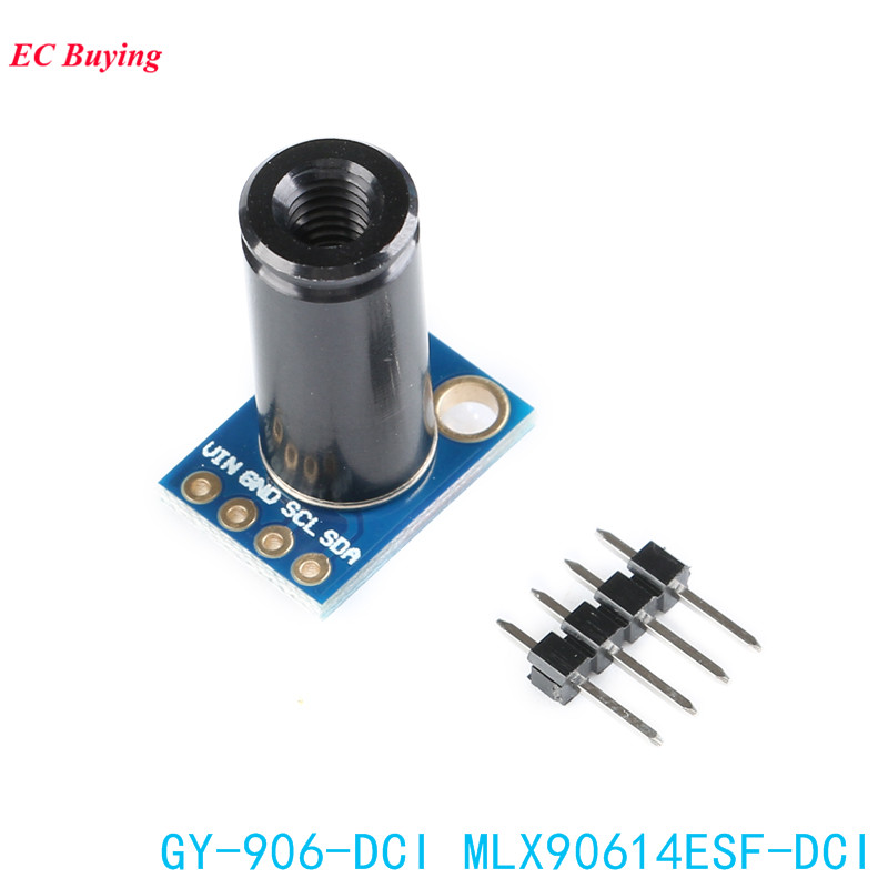 MLX90614ESF-DCI Sensor Module MLX90614 Infrared Temperature Sensors GY-906-DCI IIC Connector Long Distance Electronic DIY PCBMLX90614ESF-DCI Sensor Module MLX90614 Infrared Temperature Sensors GY-906-DCI IIC Connector Long Distance Electronic DIY PCB