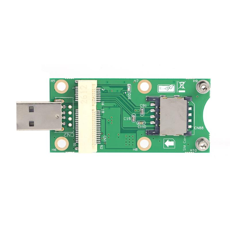 Mini Wireless PCI-E to USB Adapter with SIM 8 Pin Card Slot for WWAN/LTE Module Converts 3G/4G Mini-Card to USB Port hot sale mini wireless pci e to usb adapter with sim 8 pin card slot for wwan lte module converts 3g 4g wireless mini card to usb port