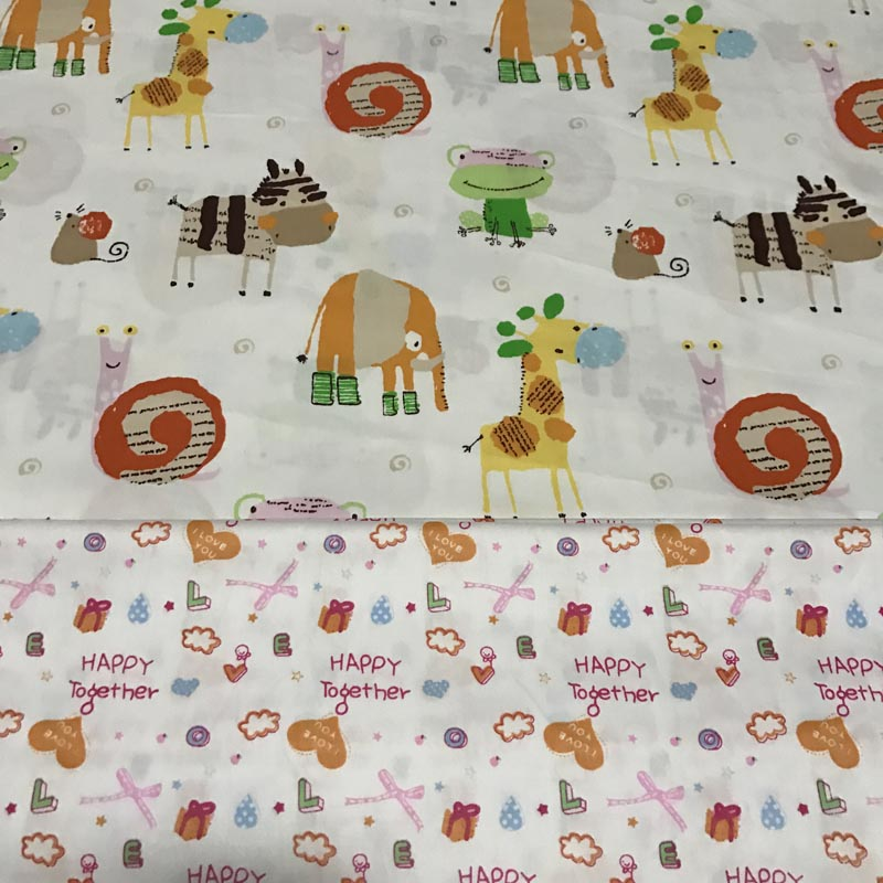 06de9bf7c65 100% cotton twill cloth big animals color childhood gifts fabric for DIY  kid crib bedding decor handwork quilting tissue textile