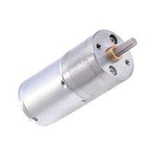 JGA25-370 двигатель постоянного тока мотор-редуктор 6V 12V электрический мотор с высоким крутящим моментом, 5/10/15/30/60/100/150/200/300/400/500/1000/1200 об/мин
