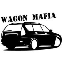 CK2394#15*24cm Wagon mafia funny car sticker vinyl decal silver/black car auto stickers for car bumper window car decorations ck2387 15 20cm wagon mafia 2111 car sticker vinyl decal silver black car auto stickers for car bumper window car decoration
