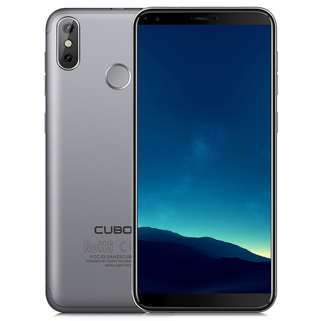CUBOT R11 3G Mobilephone 5.5Inch Android 8.1 MTK6580 1.3GHz Quad Core 2GB RAM 16GB ROM Dual Rear Cameras Fingerprint Recognition