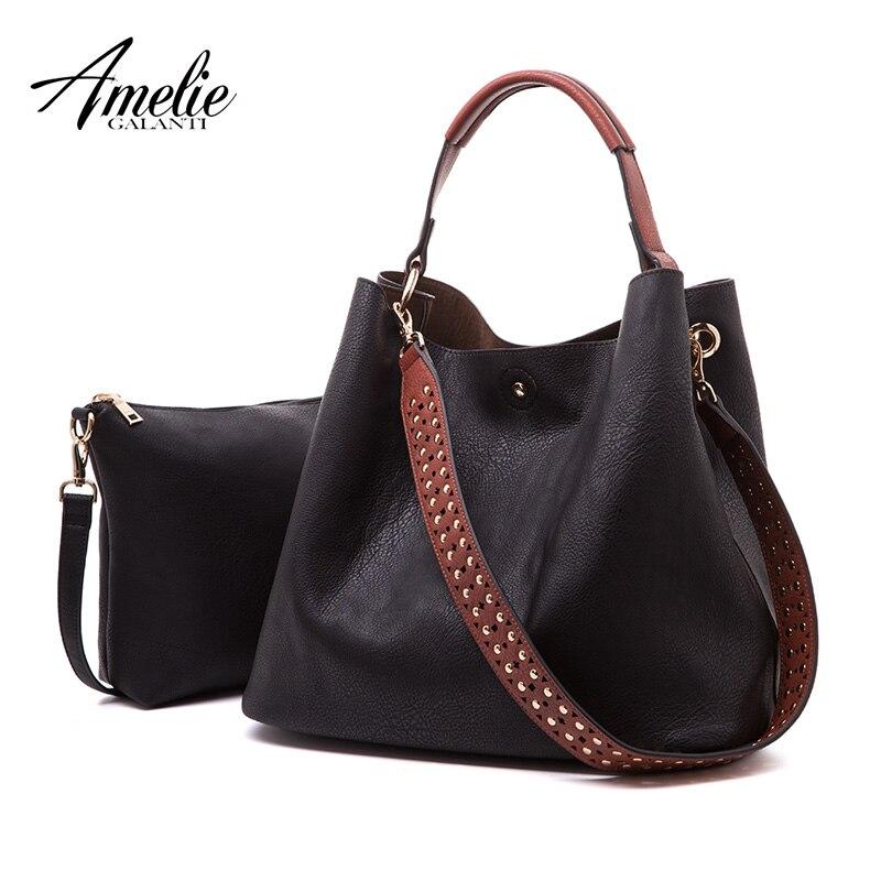 AMELIE GALANTI женские сумки из искусственной кожи женская большая сумка хозяйственная сумка повседневная сумка на плечо сумки-мешки для женщин