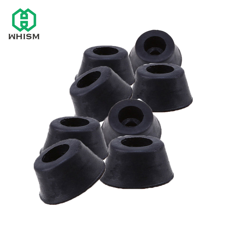 WHISM Rubber Round Table Chair Furniture Feet Leg Pads Tile Floor Protectors M8 Truncated Cone Type Chairs Corner Holder 20pcs rubber table chair furniture feet leg pads tile floor protectors 18x15x5mm