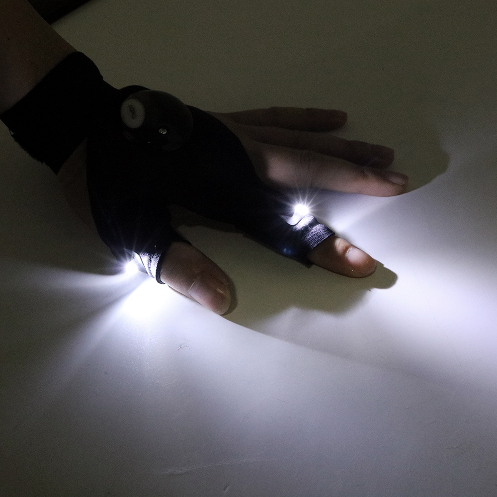 ITimo 1 Piece Finger Light LED Glove Flashlight Torch Novelty Lighting Mini Portable Light for Camping Hiking Fishing Repairing
