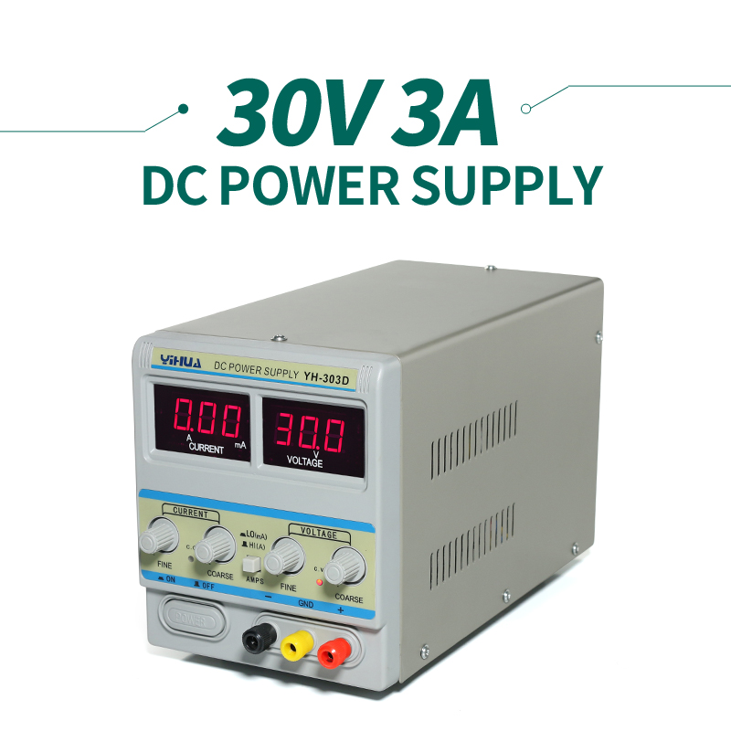 ФОТО YIHUA 303D Switching Rework Station Laboratory Regulated Power Supply  0-30V / 0-3A