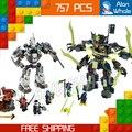 754 шт. Бела 2016 новый 10399 Ниндзя Titan Мех Бой блоки увлекательный Nya Зейн Джей Совместимо с Lego