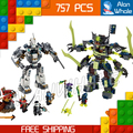 754pcs Bela 2016 new 10399 Ninja Titan Mech Battle building blocks fascinating Nya Zane Jay Compatible with Lego