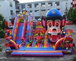 2019 Factory direct nadmuchiwany zamek/zjeżdżalnia/kombinacja duża gąbka trampolina dla dzieci patrol