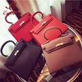 High quality classic fashion style multi-colored locks pu leather ladies handbag shoulder bag shoulder bag messenger bag flap