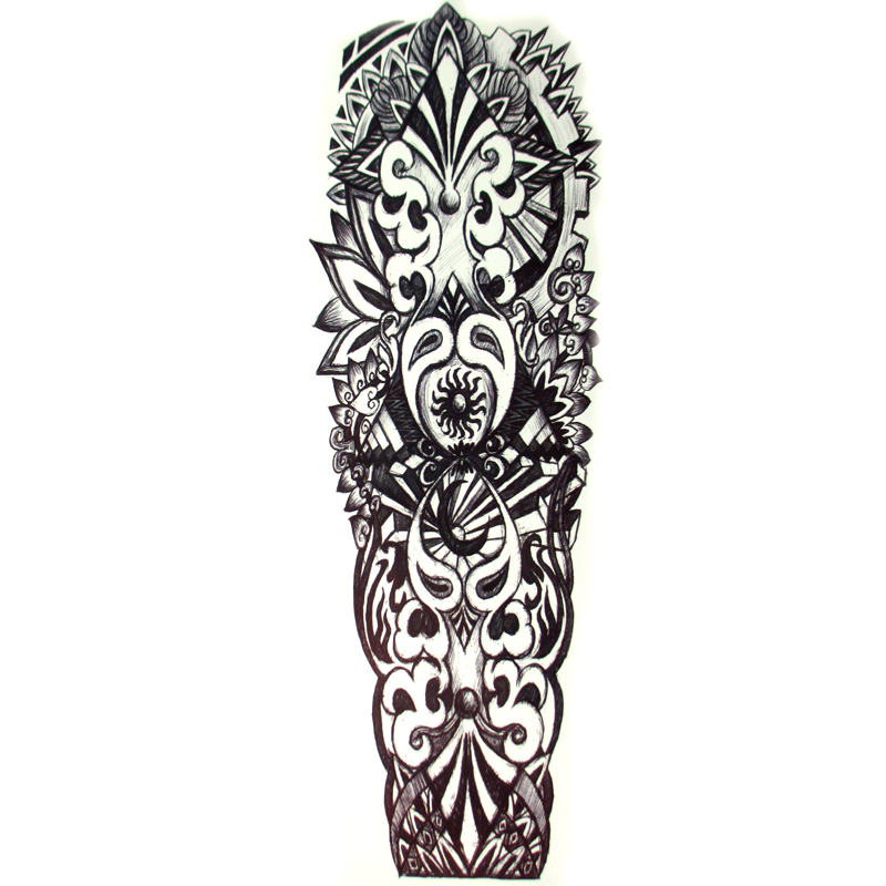 new sun large waterproof full arm tattoo sticker sleeve body art for men women fake tattoos. Black Bedroom Furniture Sets. Home Design Ideas