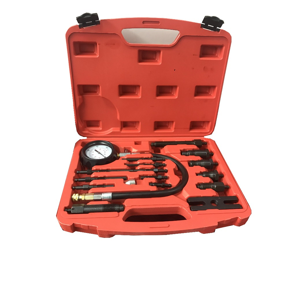 TU-15B universal Diesel Engine Compression Tester Kit cylinder test gauge For diesel car Engine Repair automotive tools tu 15a diesel engine compression tester kit engine pressure gauge 0 1000psi