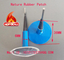 5pcs+1pcs free Mushroom Plug Tire Repair cold Patch For Vehicle 36*6mm Tubeless Tyre repair plug patch /tyre cold repair patch